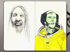 —Moleskine®—Crazy Guy from Volcom® Ad / Neil Armstrong—