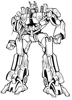 Free printable Transformer Coloring Pages just print a whole
