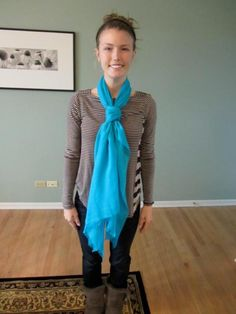 Learn how to tie a scarf!-From my friend, ALLIE! :)