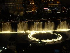 From ur window, the Bellagio fountain La Vegas