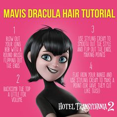 I'm so flattered that people want to know how I do my hair! Here is the Mavis Dracula hair tutorial and make sure to comment if you're giving it a try! - Hotel Transylvania 2 in theaters Sept 25 Halloween 2016, Halloween Candy, Holidays Halloween, Halloween Kids, Halloween Costumes, Disney Costumes, Happy Halloween, Mavis Costume, Mavis Hotel Transylvania