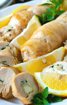 Greek Chicken Roulade