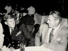 Gary Cooper with a young John F. Los Kennedy, John F Kennedy, Gary Cooper, Cary Grant, John Wayne, Classic Hollywood, Old Hollywood, Young John, John Fitzgerald