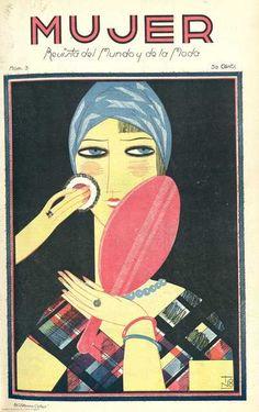 Find out more on Europeana Mode Vintage Illustration, Art Deco Illustration, Magazine Illustration, Vintage Magazines, Fashion Magazines, Art Deco Fashion, 20s Fashion, Art Nouveau, Moda Madrid