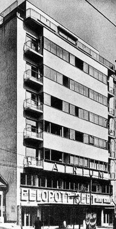 lajos kozma - atrium house, margit boulevard, budapest, 1934