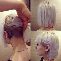 jennyvad: Super awesome and talented and sweet @heartthehair cut my hair today! I have never been this excited about my hair before! Loving it Erle works at #headmasters at Storo. So go there if you wanna look pretty and awesome!! #haircut #hair #undercut bangs Bob