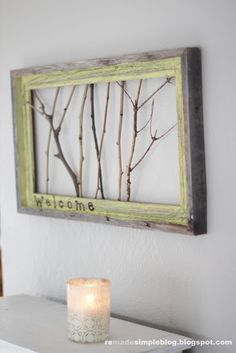 branches in an old frame