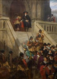 "Cromwell dissolving the Long Parliament; the ensuing ""Barebones Parliament"" was modeled after the Jewish Sanhedrin."