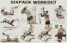 Sixpack Workout - Healthy Fitness Workout Abs Back Core Plank - FITNESS HASHTAG