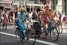 Naked Bike Ride Brighton 2014