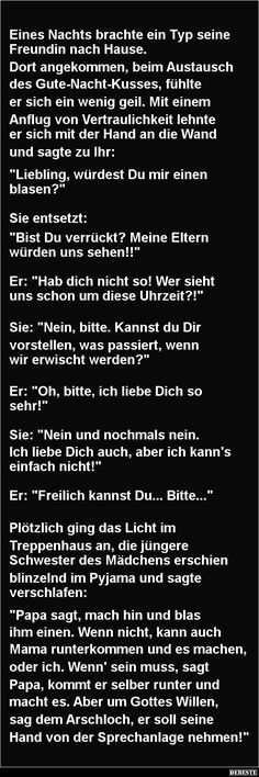 One night a guy brought his girlfriend home DEBESTE. Funny Texts From Parents, Funny Jokes For Adults, Funny Picture Quotes, Funny Pictures, Funny Quotes, German Quotes, Funny Text Fails, Tabu, Parenting Humor