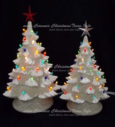 Silver Bells White Ceramic Christmas Tree Collection 16 and 19 in http://www.ceramicchristmastrees.info/silver-bells-white-ceramic-christmas-tree-collection-16-and-19-in/