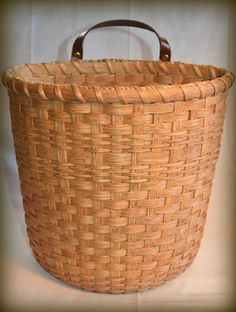 Handmade Woven Basket for Recycled Plastic by BrightExpectations