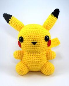 Crochet Pattern Amigurumi Chubby Pikachu by CraftyHanako on Etsy