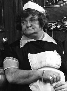 "The lovely Les Dawson in character mode as ""Ada"" British Comedy, British Actors, Classic Tv, Classic Films, Les Dawson, English Comedians, Comedy Actors, Classic Comedies, Kids Tv"
