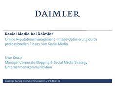 online-reputation-durch-social-media by Daimler-Blog via Slideshare