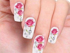 50 unique nail art designs 2016 - style you 7 Simple Elegant Nails, Elegant Nail Art, Elegant Nail Designs, Fancy Nails, My Nails, Nail Art Designs 2016, Flower Nails, Art Tutorials, Summer Nails