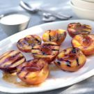 Grilled Peaches with Cardamom Cream Recipe on Williams-Sonoma.com (although I may substitute cinnamon for the cardamom)