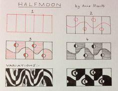 Halfmoon~Zentangle