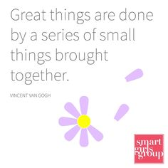 Small actions build up to be something big