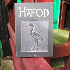Gower Stone Art make beautiful hand carved bespoke House names and numbers in Welsh Slate Slate Signs, Swansea, Stone Art, Heron, Welsh, Beautiful Hands, Hand Carved, Carving, Design