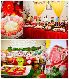 Snow White Themed Birthday Party with So Many Adorable Ideas via Kara's Party Ideas | KarasPartyIdeas.com #SnowWhite #SevenDwarfs #PartyIdeas