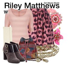 Girl Meets World by wearwhatyouwatch on Polyvore featuring maurices, P.A.R.O.S.H., Monsoon, Burberry, Zadig & Voltaire, SHOUROUK, Oscar de la Renta, Chanel, television and wearwhatyouwatch