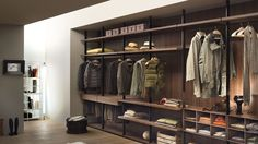 Hanger walk in closet system by Piero Lissoni for Lema offers endless design possibilities to meet your specific storage needs. Walk In Closet Design, Wardrobe Design, Closet Designs, Walking Closet, Closet Interior, Wardrobe Shelving, Almirah Designs, Wardrobe Systems, Shelving Systems