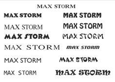 Ideias de lettering para o Nome do Logo caixa de cereais