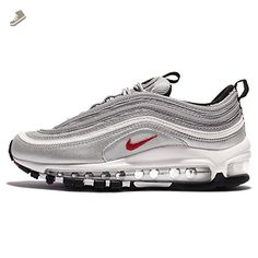 Nike Womens Air Max 97 OG QS Running Trainers 885691 Sneakers Shoes (US 7.5, metallic silver varsity red 001) - Nike sneakers for women (*Amazon Partner-Link)