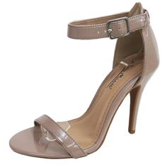 Anna Michelle - Women's Single Sole Ankle Strap Heel Dressy Shoes - Nude