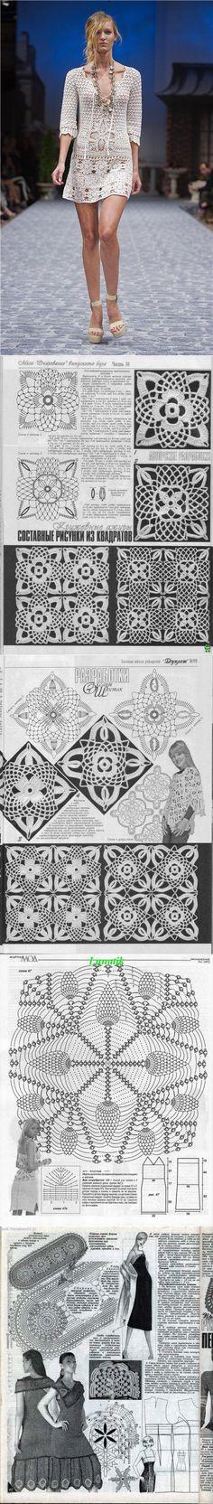 890 mejores imágenes de tejidos moda | Crochet clothes, Crochet ...
