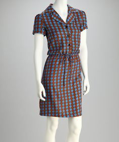 Take a look at this Blue Drawstring Shirt Dress by Shelby & Palmer on #zulily today!$18.99, regular 44.00
