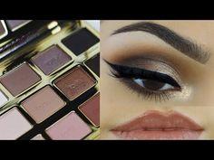 Tarte in Bloom Makeup Tutorial - KurlyKaya Makeup Tarte, Nude Makeup, Beauty Makeup, Makeup Eyes, Beauty Tips, Tartelette In Bloom Looks, Tartlette In Bloom, Tarte Eyeshadow Palette, Smokey Eyeshadow