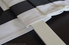 How to Make a No Sew Fixed Roman Shade with Valance - bystephanielynn