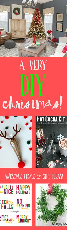 Here are several awesome Holiday DIY projects for your home and gifts for Christmas 2015!