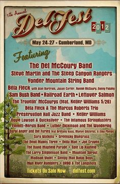 Delfest Music Festival!! Annual Bluegrass festival taking place in Cumberland! Get your tickets!