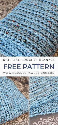 Knit Like Crochet Blanket Pattern ⋆ Rescued Paw Designs Crochet by Krista Cagle