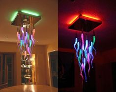Color Changing Chandelier: Almost entirely handmade, this chandelier can change colors at the push of a button.
