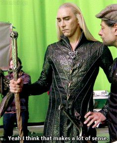 Hobbit behind the scenes with Lee Pace, Andy Serkis and Orlando Bloom