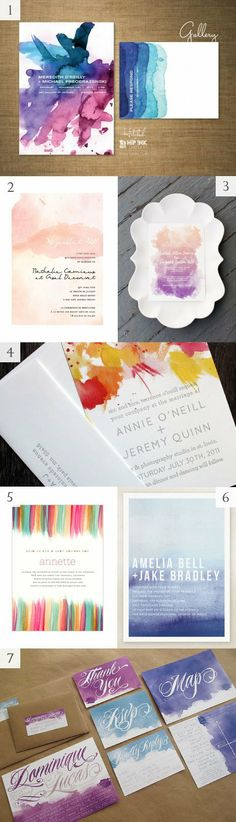 Ideas for painting watercolor cards