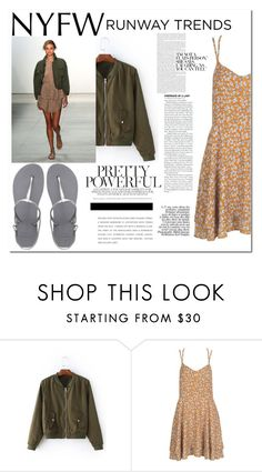 """""""NYFW 3 contest"""" by cassandria ❤ liked on Polyvore featuring Marissa Webb, WithChic and Havaianas"""