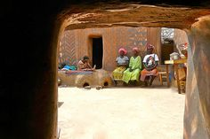 """""""Numbering about 100,000 inhabitants, Kassena country straddles the Burkina/Ghanaian border, in the southeastern pocket of Gourounsi country. Society is based around the village chief, who is in theory descended from the first settler (from around 1600) and whose personal plot of land takes on some rather unusual functions."""" Burkina Faso: the Bradt Guide: www.bradtguides.com"""