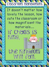 Teaching in Progress: If Chaos is King, the Kingdom Will Fall...