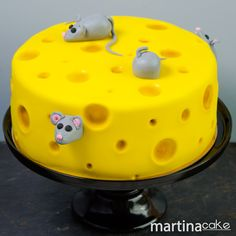 Tarta de queso con ratones • Martina Cake