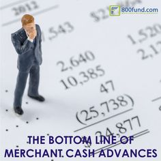 THE BOTTOM LINE OF MERCHANT CASH ADVANCES AT www.800fund.com  Merchant cash advances can be faster, involve less paperwork, and be accessed by businesses with less credit history. However, they can cost considerably more than business loans, making loans preferable for borrowers that have the time and credit to obtain them.  #smallbusiness #funding #800fund