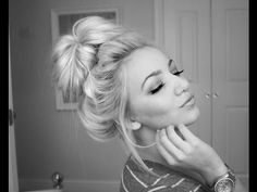 messy top knot - YouTube