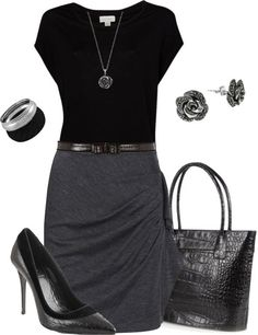 "Chic Professional Woman Work Outfit. ""Professional"" by gjs927 on Polyvor"