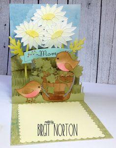 Crafting While I Wait: Daisy Pop-Up Birthday Card