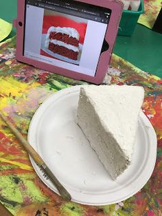 it's art day: Slice of Cake Art Middle School Art, Art School, School Ideas, Food Sculpture, Sculptures, Art For Kids, Crafts For Kids, Wayne Thiebaud, Cake Art